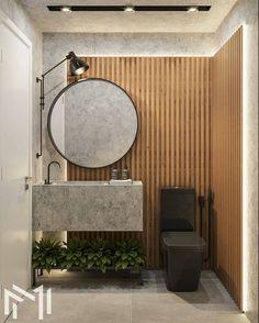 industrial bathroom decor with black toilet Bathroom Design Luxury, Modern Bathroom, Small Bathroom, Industrial Bathroom, Bad Inspiration, Bathroom Inspiration, Bathroom Sink Units, Washbasin Design, Toilet Design
