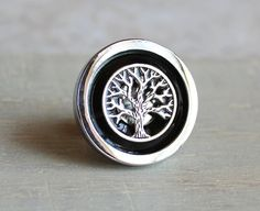 black tree drawer pull decorative drawer pull by NatureWithYou