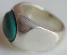 Vintage Sterling Silver Ring With Turquoise Stone 925 Stamped