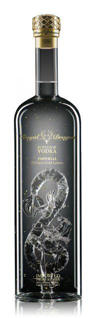 Royal Dragon Superior Vodka Imperial Feuilles d'or 23 carats 0,7L (40% Vol.)