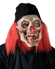 Cryptic Clown Mask SKU: M7007 Zagone Studios Cryptic Clown mask is as easy and comfortable to wear as it is spooky. It's knit stocking hat slips right on and holds the well sculpted latex mask in perfect position giving it great visibility Zagone Masks & Costumes | Zagone Studios