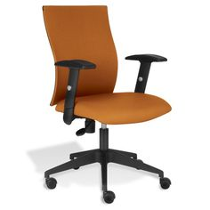 Enhance the look of your home or office with stylish yet practical Unique Furniture Kaja Office Chair with Arms. This designer chair has great looks that will add a touch of elegance to your office decor and setting. It is not just perfect in looks but also functions well. <br/><br/>It is made from plastic and fabric that makes it strong and long lasting. This office chair is available in various gorgeous colors to choose from. The chair swivels for better functionality....