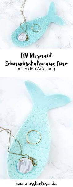 DIY Memaid Schmuckschalen - Meerjungfrau DIY aus Fimo | ars textura - DIY Blog