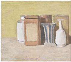 Giorgio Morandi 1890 - 1964 NATURA MORTA signed Morandi (lower centre) oil on canvas 30.2 by 34.4cm. Painted in 1949.