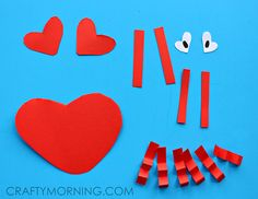 Heart Shape Crab Valentine Craft for Kids - Crafty Morning