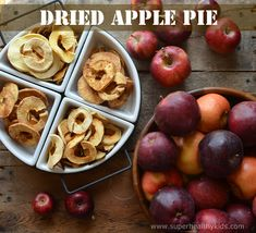 You must try these dried apples- My kids think they taste like… Healthy Meals For Kids, Healthy Treats, Kids Meals, Yummy Treats, Apple Pie Recipes, Whole Food Recipes, Snack Recipes, Kid Recipes, Dried Apples