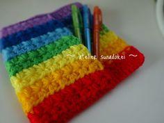 虹色ペンケース