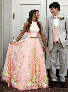 On Sale Fetching Prom Dresses Lace, Pink Tulle Lace Two Pieces Long Prom Dress, Pink Evening Dress Prom Dresses Two Piece, Prom Dresses For Teens, Pink Prom Dresses, Tulle Prom Dress, Dress Long, Unique Prom Dresses, Dress Formal, Party Dresses, Occasion Dresses