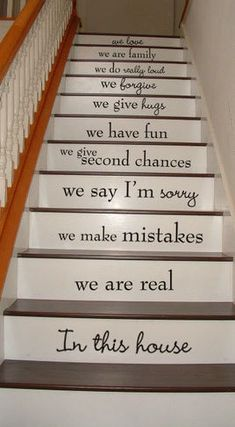 This would be a really cute way to uncarpet the stairs!
