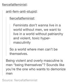 Who is demonizing men?