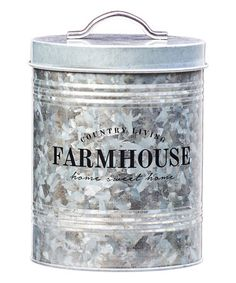 Another great find on #zulily! Silver 'Farmhouse' Canister #zulilyfinds
