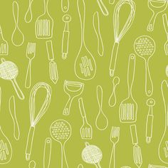 York Wallcoverings - #KB8600 Kitchen Countours (Bistro Collection). Would be so cute for an accent wall in kitchen!