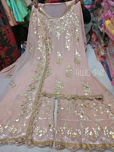 Indian designer outfits - Pure Georgette shirt and Beautiful Sharara Wedding Dresses For Girls, Pakistani Wedding Dresses, Pakistani Dress Design, Party Wear Dresses, Designer Dress For Men, Indian Designer Suits, Designer Dresses, Indian Dress Up, Indian Wear