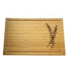Rosemary Cutting Board // Cheese Board Pyrography Wood Burning