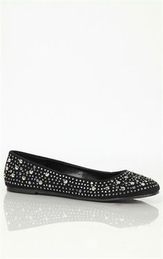 Deb Shops Ballet Flat with Studs $16.99