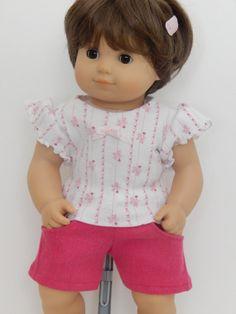 Bitty Baby Pink Tee Shirt and Shorts by Emmasdollshop on Etsy, $15.00