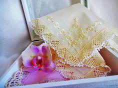 Crocheted Handkerchief.
