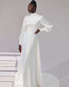 33 Cute Modest Wedding Dresses To Inspire ❤ modest wedding dresses sheath with long sleeves hihg neck simple justin alexander #weddingforward #wedding #bride #weddingoutfit #bridaloutfit #weddinggown