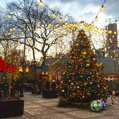 Tavern on the Green, Central Park, NYC Christmas In The City, New York Christmas, Christmas Mood, Christmas Vacation, Green Christmas, Christmas Photos, Christmas Trees, Xmas In New York, Elf Decorations