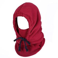 10 Colors Outdoor Equipment Awesome Tactical Soft Thermal Warm Fleece Thick Headgear Balaclava Hood Mask Keep Neck Warmer(Wine Red) ** Read more reviews of the product by visiting the link on the image.