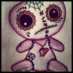 voodoo doll inspiration for halloween make-up