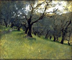 ☼ Painterly Landscape Escape ☼ landscape painting by John Singer Sargent, Olive Trees