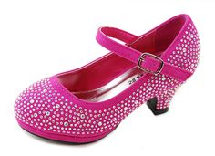 Dana-53k Little Girl Mid Heel Rhinestone Pretty Sandal Dress Shoes -- Quickly view this special  product, click the image : Girls sandals