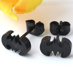 2pcs 12mm Cool Stainless Steel Batman Bat Men S Earrings Ear Studs Punk Jewelry Ebay Cute