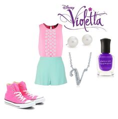 """""""Yo Soy Asi Outfit #2"""" by theodora2707 on Polyvore featuring Converse, Dorothy Perkins, Miu Miu, Charlotte Russe, Blue Nile, BERRICLE and Deborah Lippmann"""