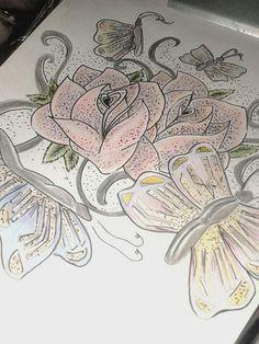 #Rosas #Arte #Colorido #Pontilhismo