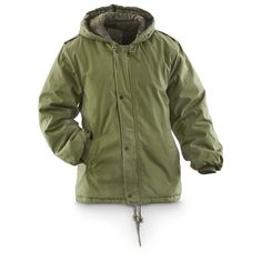 Used French Military Surplus S300 Insulated Parka, Olive Drab ...