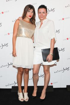 Jeanne Demas and Garance Doré at the debut of Maison Jules