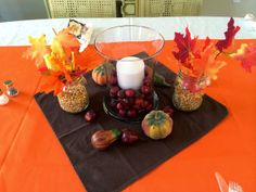 Thanksgiving Centerpiece ideas. From Marci Coombs Blog