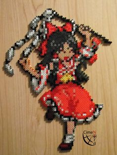 Reimu Trainer Perler Beads by Cimenord on DeviantArt