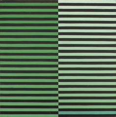 Dadamaino (Italian, 1930–2004), La ricerca del colore, verde-nero. Tempera on paper on board, 80 x 80cm.