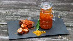 Currysauce Sansibar   Living BBQ Sauce Barbecue, Bbq Grill, Bbq Sauces, Mayonnaise, Chutney, Sauce Au Curry, Curried Sausages, Mango Curry, Calories