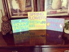 Hoppy Easter, Spring Flowers, Frame, Diy, Home Decor, Homemade Home Decor, Bricolage, A Frame, Frames