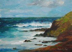 """""""The Pacific Coast"""" - Original Fine Art for Sale - © Kelvin Lei"""