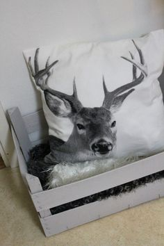 okay I seriously need this deer pillow
