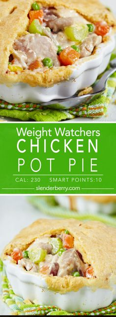 Weight Watchers Chicken Pot Pie Recipe - 10 Smart Points 230 Calories