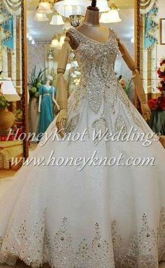 Swarovski Crystal Beaded Wedding Gown on Etsy, $1,100.00
