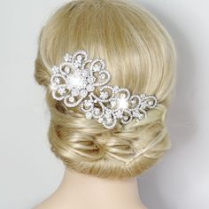 "5 5"" Wedding Bridal Hot Selling Flower Hair 3 Comb Tiara Swarovski Crystal 