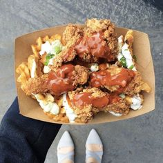 The Spot: The Lobos Truck What To Order: Nachos & Wings Listen: Your quest to be more healthy can wait a minute. This food truck specializes in the ultimate comfort food items like nachos, wings, mac 'n' cheese, and more. Oh, and the criss-cut fries are not to be missed. The Lobos Truck; various locations.