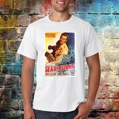 Marijuana Tshirt  John wayne movie  Drug shirt  Movie tee