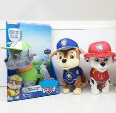 English and Russian Barking Musical Puppy Patrol Dog Patrulla Canina juguetes Electric Walking Singing plush toys Stuffed dolls