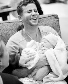 A happy new dad
