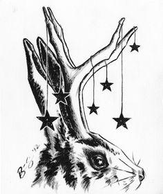 Brian Ewing SHOP | ORIGINAL-ART > Jackalope Ink Study 9.14.12