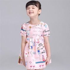 * Allover print<br /> * Round collar and short sleeve<br /> * Zipper back<br /> * Pleats details<br /> * Soft lining<br /> * Material: 100% Polyester<br /> * Machine wash, tumble dry<br /> * Imported<br /> <br /> This vivid dress with an adorable print. Soft cotton lining provide a comfy fit!