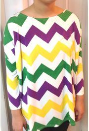 85828955e0680 Mardi Gras Long Sleeve Bamboo T-Shirts Size Large