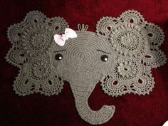 Nursery Rug by Ariana Lanae Reynolds, a Crochet Addict member. Made with Caron Simply Soft grey.
